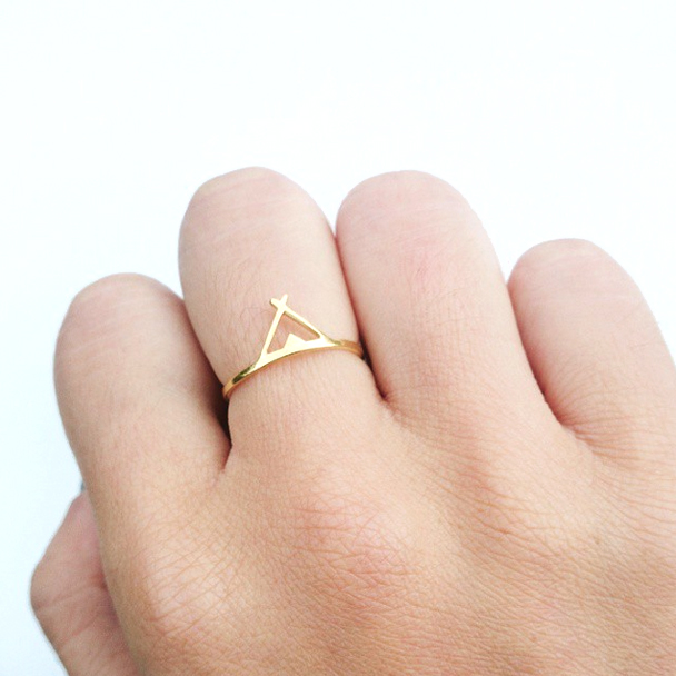 Tipi Ring 18ct Gold Plated Kim Eljiz Jewellery Wearable