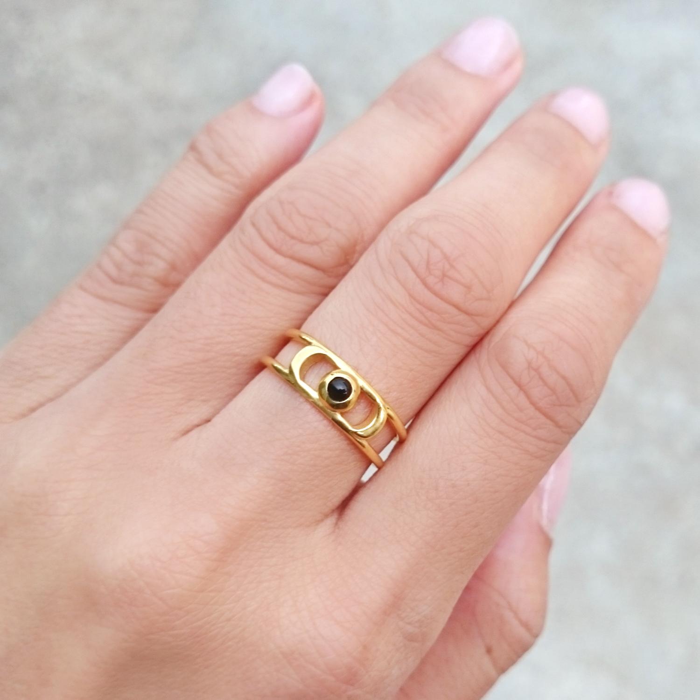ECLIPSE RING // 18CT GOLD PLATED | KIM ELJIZ jewellery | Wearable ...